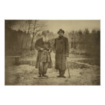 Léon Tolstói e o máximo Gorky do autor Pôsteres