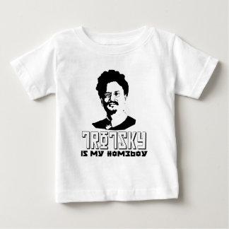 Leon Trotsky é meu ficar em casa Camiseta Para Bebê