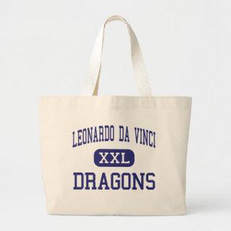 Leonardo da Vinci - dragões - alto - búfalo Bolsa Para Compras