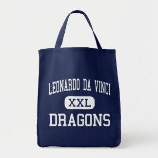 Leonardo da Vinci - dragões - alto - búfalo Bolsas Para Compras