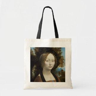 Leonardo da Vinci Ginevra de' Benci Bolsas Para Compras