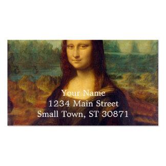 Leonardo da Vinci, pintura de Mona Lisa Cartão De Visita