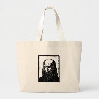 Leonardo da Vinci - retrato Bolsa Tote Grande