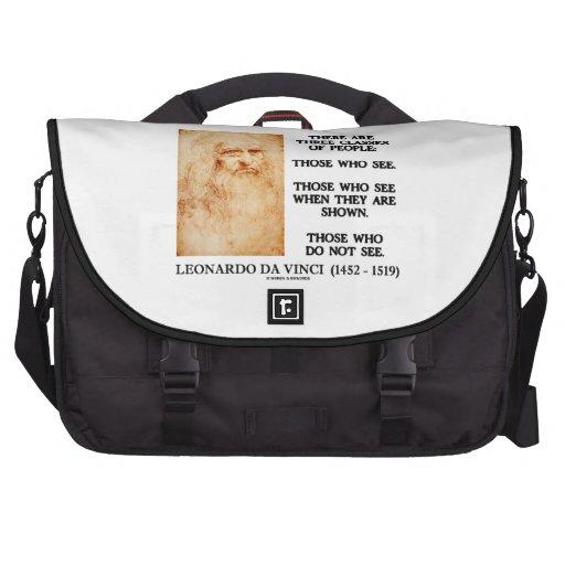 Leonardo da Vinci três classes de pessoas das cita Pastas Para Laptops