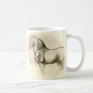 Leonardo-Dinamarca-Vinci-cavalo Caneca De Café