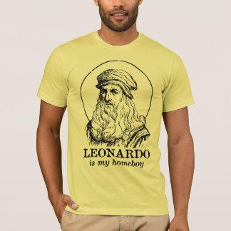 Leonardo é meu ficar em casa camiseta