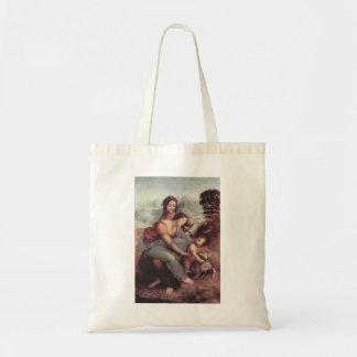 Leonardo Vinci- o Virgin e a criança com St Anne Bolsa De Lona
