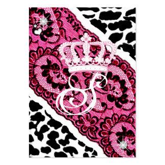 leopardo 311-Lacy & tiara Modelos Cartoes De Visitas