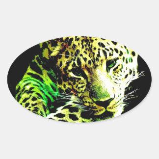 Leopardo Adesivo Oval