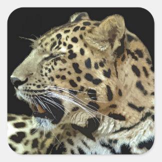 Leopardo Adesivo Quadrado