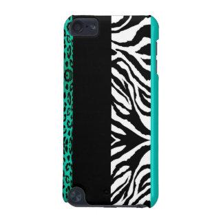 Leopardo azul da cerceta e impressão animal feito capa para iPod touch 5G