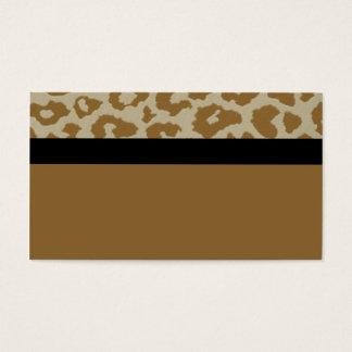 leopardo com o cartão de ônibus preto do strick