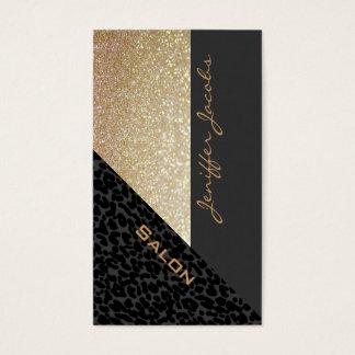 Leopardo contemporâneo luxuoso chique elegante cartão de visitas
