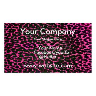 Leopardo cor-de-rosa fluorescente cartão de visita