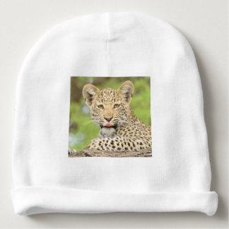 Leopardo Cub com um Beanie da atitude Gorro Para Bebê