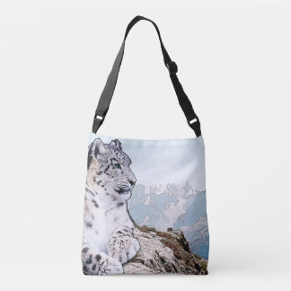 Leopardo de neve bolsa ajustável