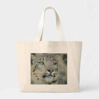 leopardo de neve bolsa tote grande
