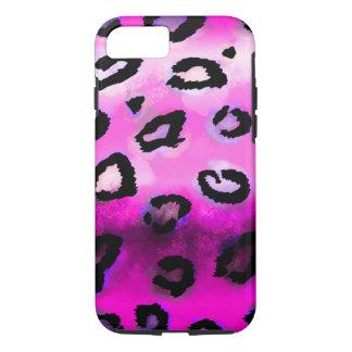 Leopardo do Grunge do rosa quente Capa iPhone 8/ 7