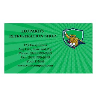 Leopardo do mecânico da refrigeração do cartão de cartão de visita