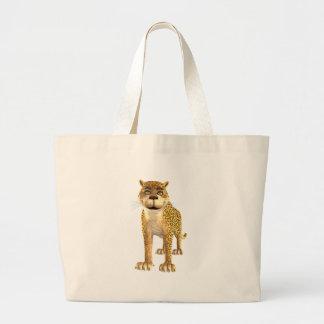 Leopardo dos desenhos animados bolsa para compra