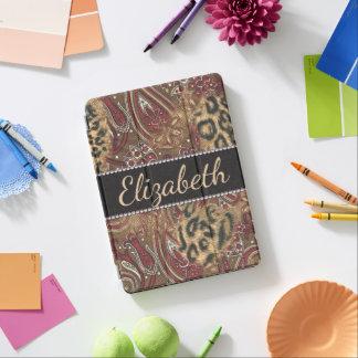 Leopardo e impressão do design de Paisley a Capa Para iPad Pro