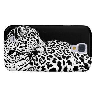 Leopardo preto & branco capas personalizadas samsung galaxy s4