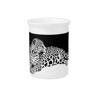 Leopardo preto & branco jarros