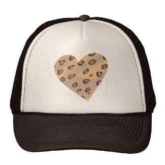 Leopardos do coração, chapéus feitos sob encomenda boné
