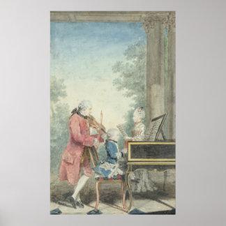 Leopold Mozart e suas crianças Wolfgang Poster