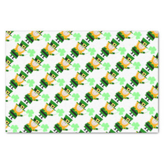 "Leprechaun pequeno feliz 10"" x 15"" lenço de papel"