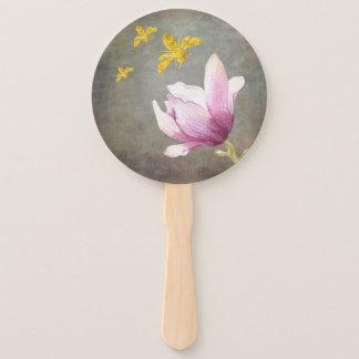 Leque Abelhas da flor & do ouro da aguarela