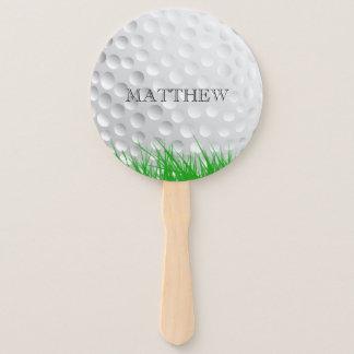 Leque Bola de golfe na grama personalizada