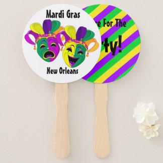 Leque Carnaval de Nova Orleães do fã do carnaval