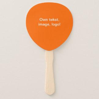 Leque Da mão do fã laranja uni