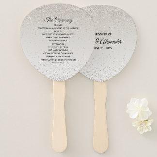 Leque Fã Glittery do programa do casamento de Champagne