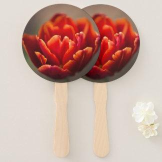 Leque Foto vermelha bonito das pétalas da tulipa