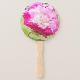 Leque o hibiscus variável do rosa e o branco floresce em