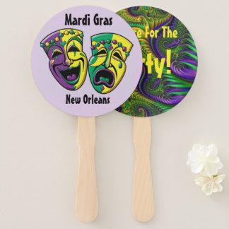 Leque Partido do carnaval de Nova Orleães do fã do