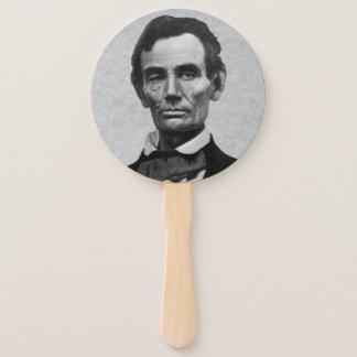 """Leque Retrato do presidente Abraham """"Abe"""" Lincoln"""