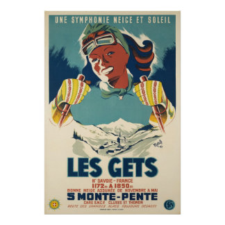 Les obtem, Sabóia, France, poster do esqui
