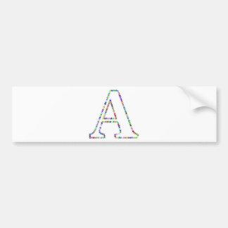 Letra A da estrela do arco-íris Adesivo De Para-choque