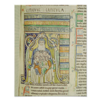 """Letra """"A"""" de Historiated que descreve gerações Impressão"""