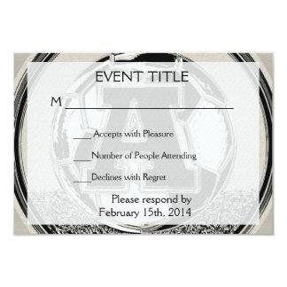 Letra A do monograma do futebol do medalhista de Convites