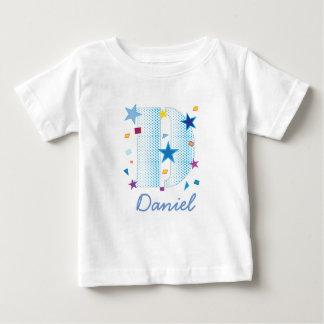 letra azul B do bebé Tshirts