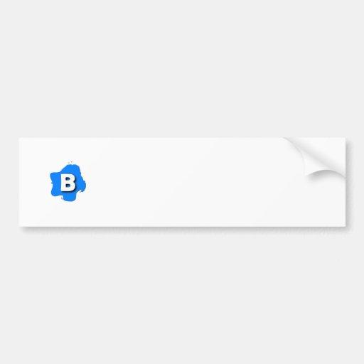 Letra B Adesivo