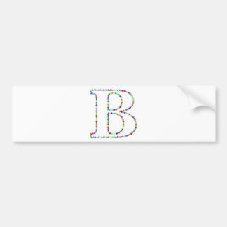 Letra B da estrela do arco-íris Adesivo De Para-choque