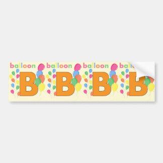 Letra B do balão Adesivo Para Carro
