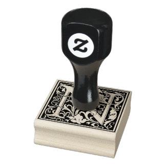 Letra decorativa N do monograma Carimbo De Borracha