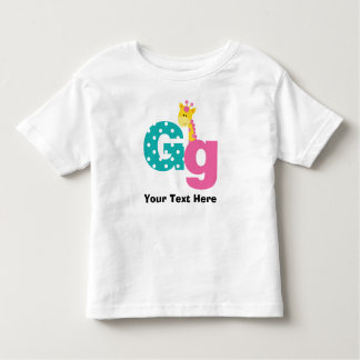 Letra do alfabeto de G personalizada Tshirts