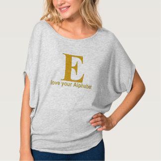 Letra do alfabeto: E Tshirt